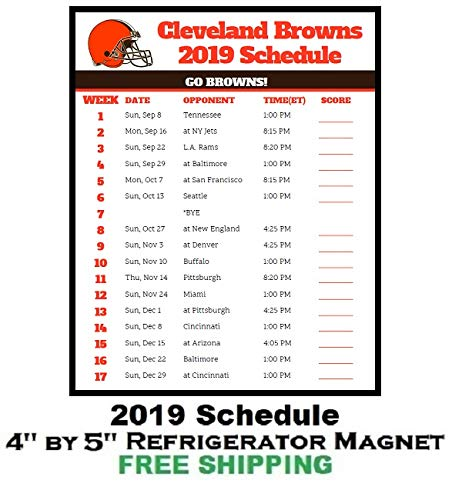 Cleveland Browns 2019 Schedule Amazon.com: Cleveland Browns NFL Football 2019 Schedule and Scores