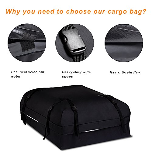 75ca03f632c3 BOLTLINK Rooftop Cargo Carrier Bag, Waterproof Roof Bag with ...