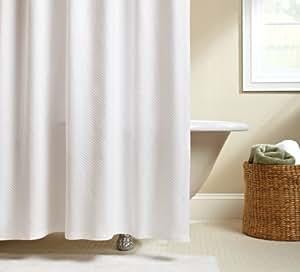 Pinzon Signature Diamond Matelasse Shower Curtain, White