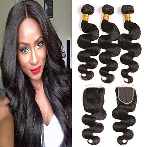 Daiweier brazilian body wave 4 bundles hair extensions real human home hair bundles with silk closure daiweier brazilian body wave 4 bundles hair extensions real human pmusecretfo Choice Image