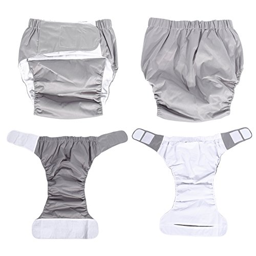 Teen / Adults Cloth Diapers, Adjustable Washable Dual Opening Pocket Reusable Leakfree Insert for Incontinence Care by Yosoo (Image #3)