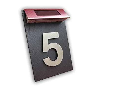 número de casa placa de deseos Puerta número de casa con led ...
