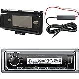 Kenwood Marine Bluetooth MP3 Receiver, Marine Radio Cover - White, Enrock 12 Volt Antenna Booster Kit