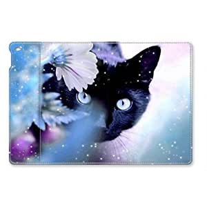 iPad Air 2 Case, Sakuraelieechyan Shock-Absorption/Impact Resistant PU Leather Personalized Protective Folio Smart Case Cover for iPad Air 2-Beautiful Cat by ruishername