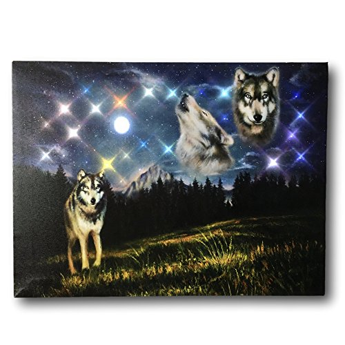 Wolf Canvas - Wolves Howling at the Moon