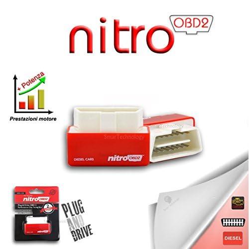 Smartechnology Nitro OBD2 Boîtier tuning additionnel universel pour Voiture Diesel