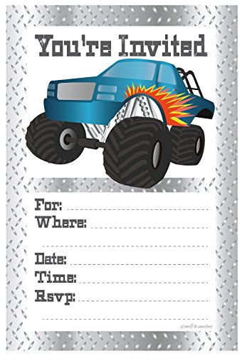 Monster Truck Birthday Party Invitations product image