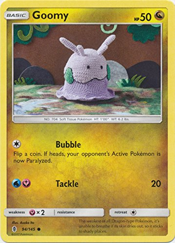 Goomy - 94/145 - Common - Sun & Moon: Guardians Rising (Goomy Card Pokemon)