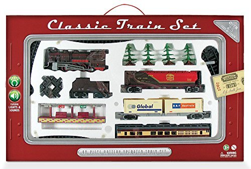 WowToyz Classic Train Classic Train Set - 40 Piece with Steam Engine ()