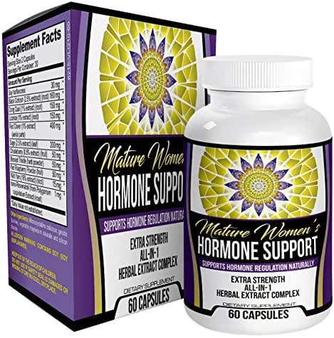 Mature Women's Hormone Support - Natural Herbal Extracts for Menopause, Perimenopause & Post-Menopause, 60 Capsules