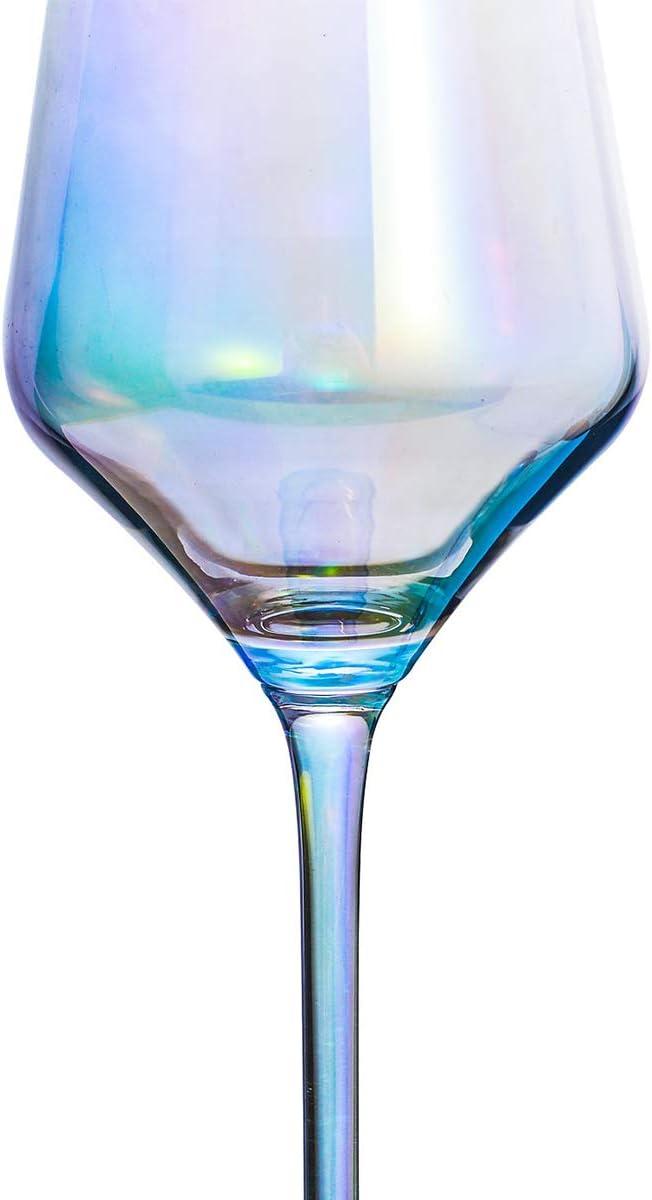 Juego de 4 esp/íritus artesanales 12 onzas 5.3 Vasos de co/ñac Transparente con Degradado Negro HOMQUEN Cristal de Brandy de Cristal