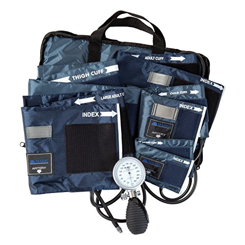 MABIS Medic-Kit5 EMT and Paramedic First Aid Kit with 5 Calibrated Nylon Blood Pressure Cuffs, Blue by MABIS DMI Healthcare (Image #3)