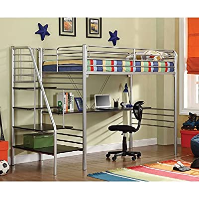 Donco Kids Twin Study Loft with Stairs -