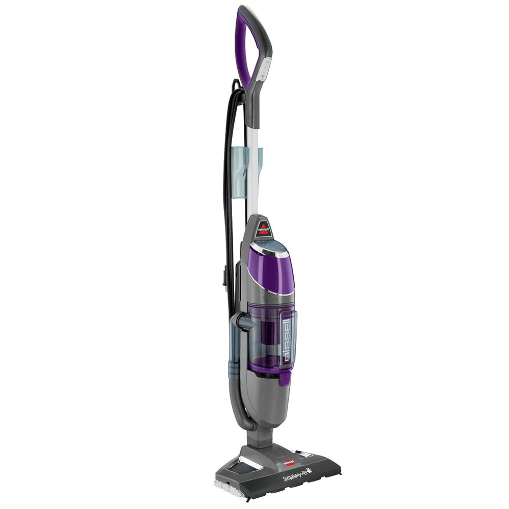 BISSELL Symphony Pet All-in-One Vacuum and Steam Mop – Best Steam Mop for 2-in-1 Action