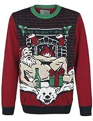 Ugly Christmas Sweater Women's Sexy Santa Light Up Sweater-2XL