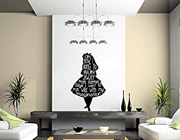 Wonderful Alice In Wonderland Wall Art Decal (500mmx700mm) Part 17