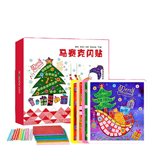 O-Toys Mosaic Crafts Christmas Diamond Mosaics Stickers Pictures Creative 3D Toys for Kids Toddlers (Christmas Toddlers Craft)