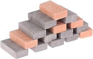 200 Pcs 1/16 Miniature Bricks Mini Red Wall Brick Stone Model Brick Building Set Cute Dollhouse Bricks Diorama Landscaping Accessories DIY Dollhouse Bricks Diorama Fairy Garden Lifelike Brick Ornament