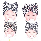 HCY Fashion Flower Printed Bowknot Baby's Hat Newborn Knitted Beanie Cap Photography Hat (Style 4)