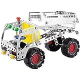 3D GiocattolidiCostruzione CamiondiMetallo Modelli Auto Veicoli Giocattolo di Costruzioni Educativi per Bambini Ragazzi 6 Anni, 192 Pezzi (No.019)