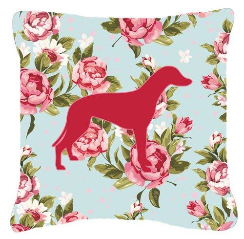 Caroline's Treasures Greyhound Shabby Elegance Blue Roses...