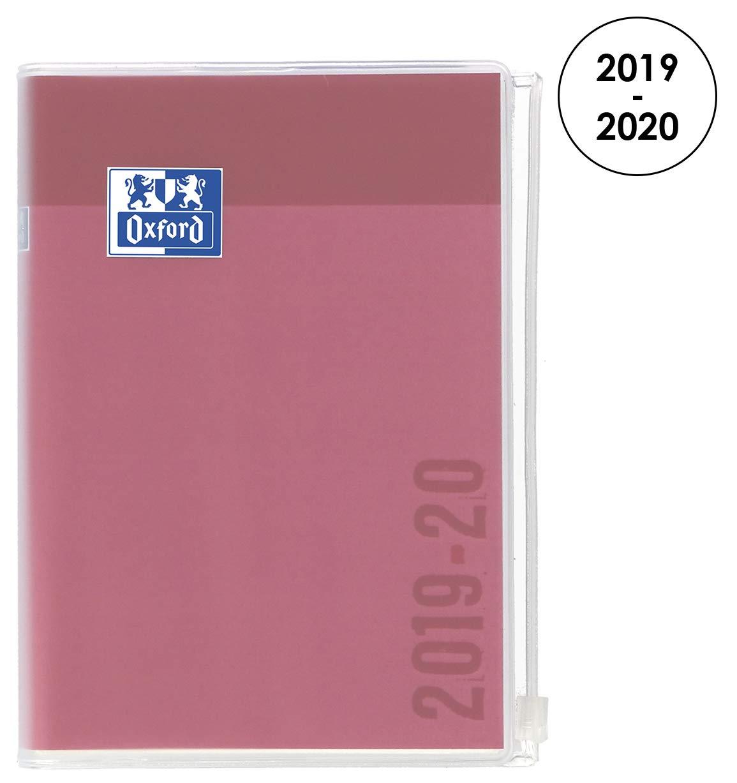 Oxford Creation Zip agenda escolar (años 2017 – 2018 1 día por página 352 páginas 12 x 18 cm rosa