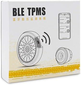Walmeck Motorrad Reifendruck Kontrollsystem Tpms Bt 4 0 Für Andriod Für Ios 4 Sensoren Auto