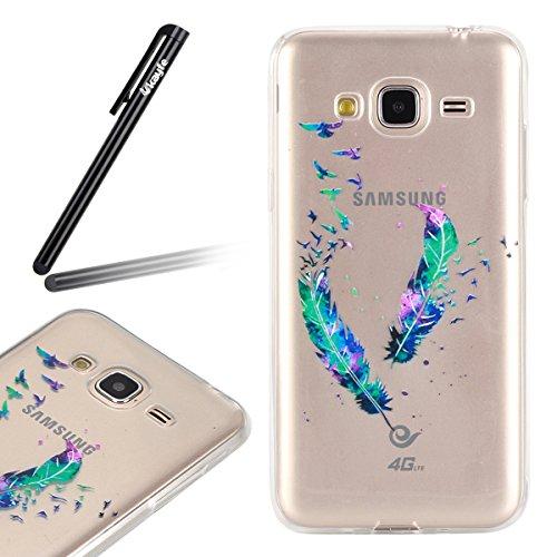 Funda para Samsung Galaxy J3 J3 (2016), Ukayfe Suave Carcasa Caso Parachoques Diseño pintado Patrón para Samsung Galaxy J3 J3 (2016),Funda Case Lujo Premium Bling Caja PC Dura Ultra Fina Cubierta Matt Doble de la pluma