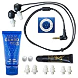 Underwater Audio 100% Waterproofing compatible with iPod Shuffle, Swimbuds Flip, AquaGuard, and Fitgoo (Royal Blue)