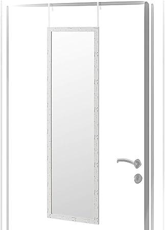 Espejo de Puerta nórdico Blanco de plástico para Dormitorio 35 x ...