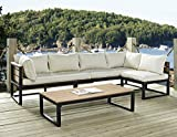 Outdoor All-Weather 4-Piece Patio Chat Set – Black Review