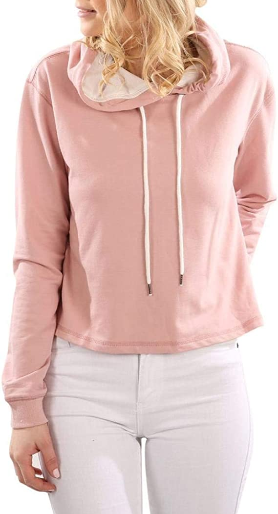 Saoye Fashion Femme Sweat À Capuche Mode Couleur Unie Hoodys