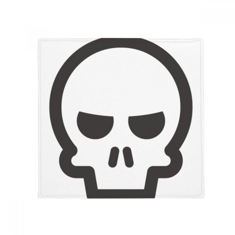 DIYthinker Fierce Black Skeleton Chat Emoji Anti-Slip Floor Pet Mat Square Home Kitchen Door 80Cm Gift
