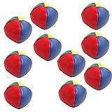 Jesse Juggling Balls Set Classic Bean Bag Juggle Magic Circus Kids Toy Gift New Pack of 10