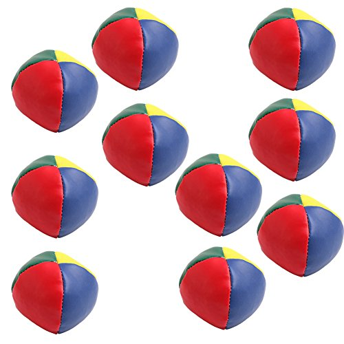 Jesse Juggling Balls Set Classic Bean Bag Juggle Magic Circus Kids Toy Gift New Pack of 10 Classic Juggling Balls