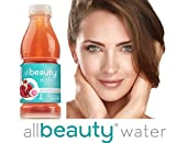 All Beauty Water Pomegranate Rose Skincare Drink, 7 Skin Nutrients, 8 Skin Vitamins, 0 Sugar, 0 Calories Case (12 bottles) offers