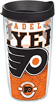 Tervis NHL Philadelphia Flyers Core Tumbler with Wrap and Black Lid 16oz, Clear