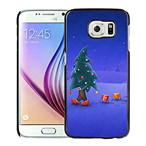 New Beautiful Custom Designed Cover Case For Samsung Galaxy S6 With Walking Christmas Tree Phone Case