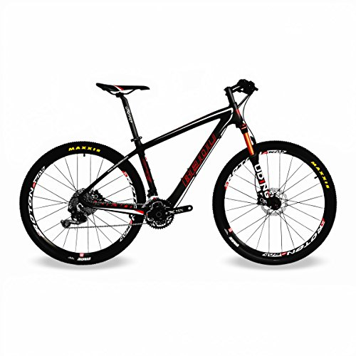 BEIOU Carbon Fiber 650B Mountain Bike 27.5-Inch 10.7kg T800 Ultralight Frame 30 Speed Shimano M610...