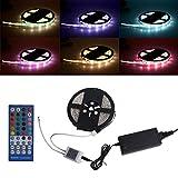 bulb for mitsubishi 60 inch tv - NNDA CO 5m SMD RGB 5050 Waterproof IP65 300 LED Strip Light 40 Key Remote 60W Power Kit