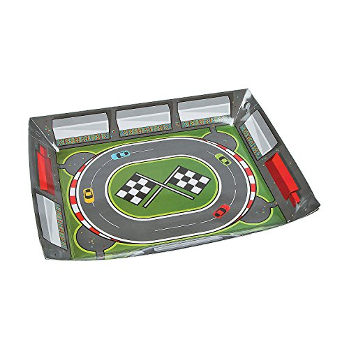 - Fun Express - Race Track Tray for Birthday - Party Supplies - Serveware & Barware - Serving Platters - Birthday - 1 Piece
