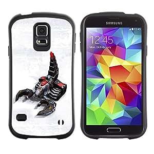 """Pulsar iFace Series Tpu silicona Carcasa Funda Case para Samsung Galaxy S5 , Escorpión Robot Arte Tecnología Futuro Juegos"""""""