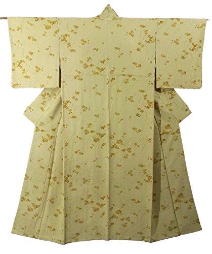研究本当に不当リサイクル 着物  小紋 小花柄 正絹 袷 裄63.5cm 身丈150cm