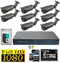 USG HD-SDI 8 Channel 1080P CCTV Kit: 1x 8 Ch DVR + 8x 2.8-12mm Bullet Cameras + 1x 2TB HDD *** High Definition Video Surveillance For Your Home or Business!