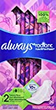 Always Radiant Size 2 Heavy Flow Pads with FlexFoam, Light Clean Scent, 26 Count