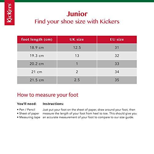 Kickers Kick T J Core Black Leather Shoes KF0000849BTW-UK 13 Kids