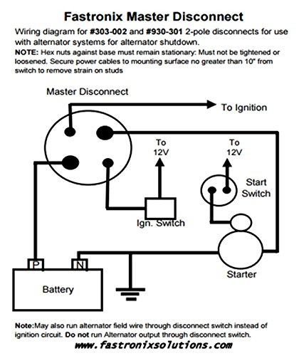 battery master disconnect switch wiring diagram efcaviation