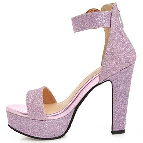 Plataforma Coolcept Mujer Purple Sandalias de Correa Tobillo 5H7rWqHRw