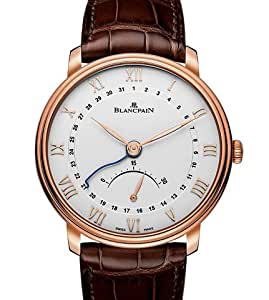 Blancpain Villeret Ultra Slim Silver Dial 18K Rose Gold Mens Watch 6653Q-3642-55B