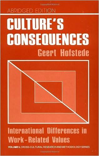 Cultures Consequences Ebook